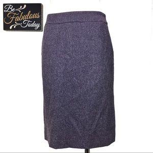 Vintage 90s Hennes Marbled Purple Wool Blend Skirt
